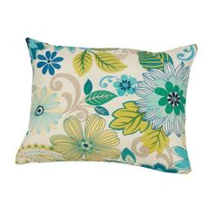 Rennie & Rose Design Group Gaya Outdoor/Indoor Throw Pillow Size: H x W x D, Color: Natural Floral Throw Pillows, Throw Pillow Sets, Lumbar Pillow, Decorative Throw Pillows, Outdoor Pillow Covers, Outdoor Throw Pillows, Outdoor Fabric, Indoor Outdoor, Turquoise Cushions