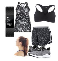 Workout by bigcouponsister on Polyvore featuring polyvore fashion style Röhnisch NIKE Wet Seal adidas Fitbit clothing