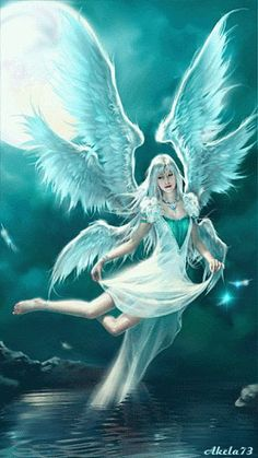 Angel Animation: Click the picture to see it move. Angels Among Us, Angels And Demons, Angels And Fairies, Fantasy Kunst, Fantasy Art, Animation, I Believe In Angels, Ange Demon, Angel Pictures