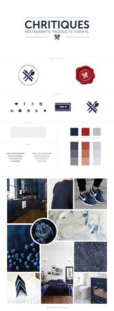 Chritiques Branding and Blog Design by White Oak Creative - logo design, wordpress theme, mood board inspiration, blog design idea, graphic design, branding