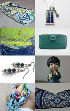 My yoga mat bag is featured here--Pinned with http://TreasuryPin.com