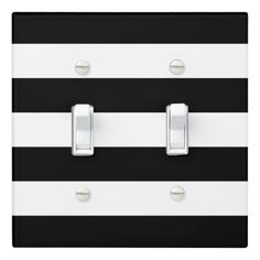black stripe light switch cover
