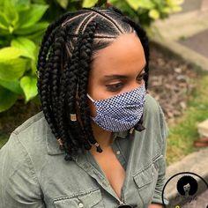 Box Braids Hairstyles For Black Women, Braids For Short Hair, African Braids Hairstyles, Amazing Hairstyles, Bob Braids, Twist Braids, Tree Braids, Twists, Natural Hair Styles
