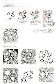 """tangle pattern """"Axlexa"""""""