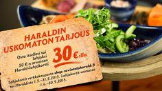 Viikinkiravintola Haraldin huikea tarjous Osta itsellesi tai lahjaksi 50€:n…