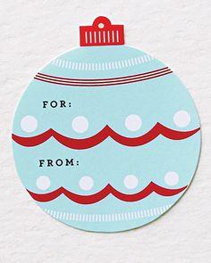 Martha Stewart printable gift tags