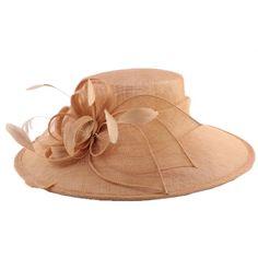 Chapeau Cérémonie Marie en sisal Beige Le choix chapeau mariage #mariage #mode #mariee #fashion sur www.hatshowroom.com