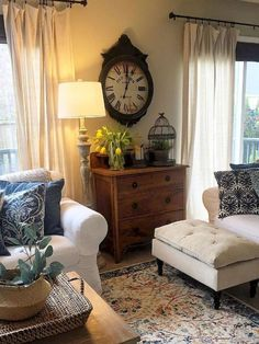 Dresser In Living Room, Home Living Room, Living Room Designs, Apartment Living, Living Area, Living Spaces, Living Room Decor Country, French Country Living Room, Cottage Style Living Room