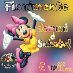 Finalmente domani è Sabato! E vaiii #domaniesabato Mickey Mouse And Friends, Minnie Mouse, New Years Eve Party, Pocahontas, Desktop, Mary, Link, Disney, Pictures