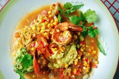 Sémola de Maíz con Camarones (Shrimp & Grits with Fresh Corn and Chayote)