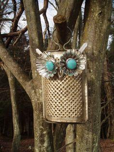 Handmade Recycled Upcycled Owl Fifi Hootenanny