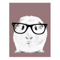 Hipster Pigster Postkarte