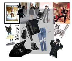 """""""Meow?"""" by ririellem on Polyvore featuring Curioos, Masquerade, Topshop, Zizzi, MANGO, Jimbobart, SELINA and Tripp"""