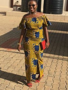beautiful african print ankara long gown styes for ladies African Print Dress Designs, African Print Dresses, African Fashion Dresses, African Dress, Fashion Outfits, Ladies Fashion, African Attire, African Wear, African Women