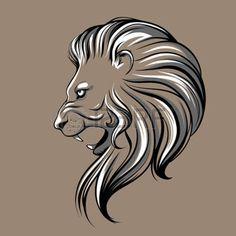 lion profile drawing - Sök på Google