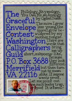 mustacich - graceful envelope contest