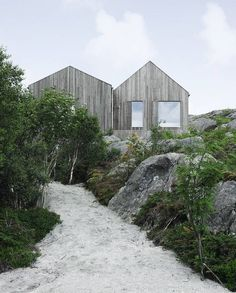 Cottage on the Norwegian Island of Vega, built by Kolman Boye Architects - Sand Path Ravine Leading to Vega Cottage