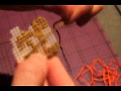 Cross Stitching video game sprites onto plastic canvas - YouTube