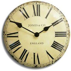 Buy Jones Convex Wall Clock - Cream and Brown at Argos.co.uk - Your Online Shop…