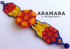 Mexican Huichol Beaded Peyote Bracelet PF-0029 Mexican by Aramara