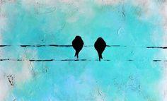 Earth de Fleur Homewares - United Artworks Bird and Bird Canvas Art From $399