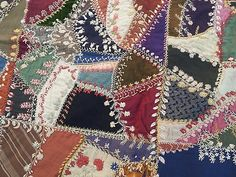 Awsome vintage crazy quilt coverlet