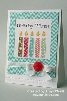 Birthday Candles Stamps:  Birthday Candles (wheel), Four You Ink:  Baked Brown Sugar, Strawberry Slush, Coastal Cabana, Crisp Cantaloupe, Pistachio Pudding, Basic Black Paper:  Whisper White, In-Color dsp stack Embellishments:  Whisper White 3/8″ Taffeta Ribbon, In Color Boutique Details, Dazzling Details, Needlepoint Border Embossing Folder, Squares Framelits