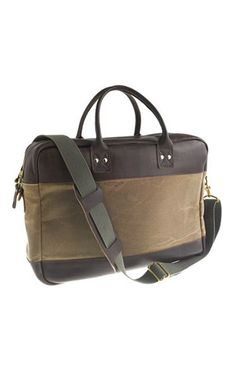 padded briefcase // j.crew :: great gift for guys