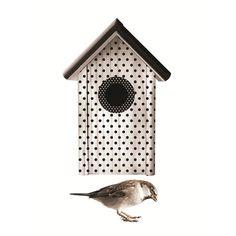 Met dit vrolijke vogeltje met gestippeld huisje van KEK Amsterdam heb je in een handomdraai een leuke toevoeging aan je interieur.