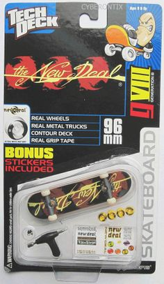 2d7300acea2 Another rare oldschool Tech Deck! NEW DEAL from 2001 Brown Black #8011 from  X