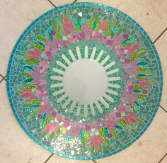 Mosaic Mirror English Garden by SpoiledRockinMosaics on Etsy                                                                                                                                                                                 More