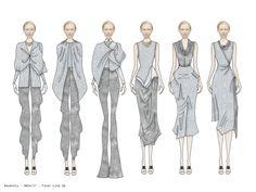 Fashion Sketchbook - fashion illustrations; lineup; fashion portfolio // Olivia Welsh