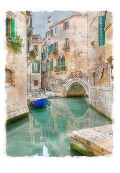 I have been following along with Mary Ann Moss's adventures in Venice, and having some Venice daydreams of my own. Digital watercolor. Original image from rolohauck. 214/365 Photo Manipulations Project