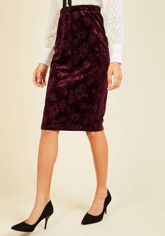 Velvet Like It Is Pencil Skirt | Mod Retro Vintage Skirts | ModCloth.com