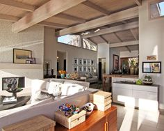 love the beams and the openness