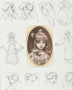 young Anastasia / Anya - concept art - design Don bluth (1997)