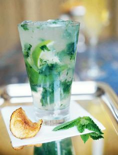 Southside Cocktail Recipe | Frank Stitt (Made with mint, lime, gin, and a splash of club soda, this is sorta like a gin drinker's mojito!)