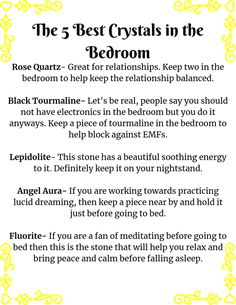 Crystals Fast Facts Bedrooms are meant for two main things. Sleep and a little sexy time. So there are certain crystals that are a must have to be in the bedroom. So come check out what you need in your bedroom ASAP. Crystal Uses, Crystal Magic, Chakra Crystals, Stones And Crystals, Relationships Are Hard, Meditation Crystals, Spiritual Health, Magic Spells, Bruges