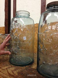 I may be in heaven... Huge Mason Jars… CynthiaWeber.com