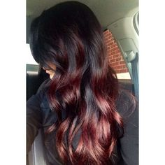 dark red ombre hair on black beautiful hair pinterest red black ombre hair red black ombre hair. Black Bedroom Furniture Sets. Home Design Ideas