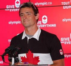 Olympic Medalist Adam van Koeverden at special ceremony at Canada Olympic House, London (Photo: Doug O'Neill)