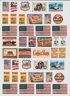 200MM X 280MM SELF ADHESIVE PAPER SIGNS FOR BILLBOARDS GARAGES ETC. in Toys, Hobbies, Model Trains, N Scale | eBay