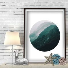 Minimalist Forest Print Forest Printable Mountain by MySmallArt