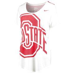 Ohio State Buckeyes Nike Women's Nameplate Boyfriend Tri-Blend T-Shirt - Cream - $35.99