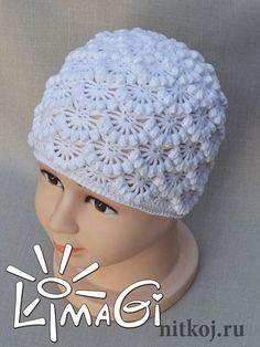crochet flower and cable hat, crochet pattern photo:limagi Bonnet Crochet, Crochet Beanie Hat, Crochet Cap, Diy Crochet, Knitted Hats, Crochet Baby Clothes, Crochet Baby Hats, Cute Hats, Turbans