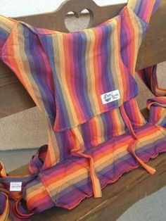 Sunset Rainbow Wrapture Mei Tai Baby Carrier Bamboo Blend