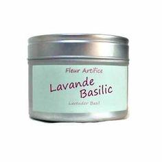 Bougie Parfumée Lavande et Basilic Boîte Métal  Cire Végétale