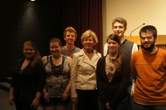 Tammy with some great UW-Eau Claire students