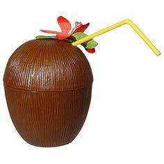 Hawaii beker kokosnoot. Hawaii of tropisch feestje? Bij Fun en Feest vind je de leukste Hawaii feestartikelen, versiering en decoratie.