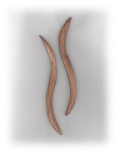 Wooden Hair Sticks Curvy Double Ended by CrockettMountainWood, $19.00